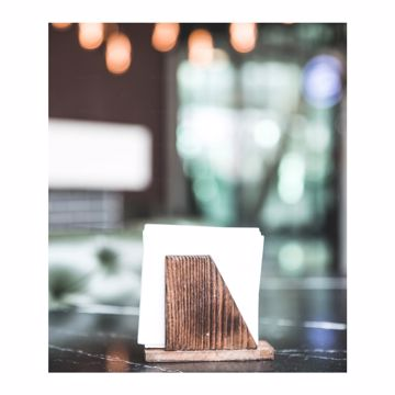 تصویر از جا دستمالی چوبی میلانو وایت پلیت کد 12095 یک عددی
