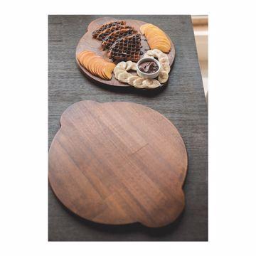 تصویر از تخته پیتزا چوبی گرد دسته دار وایت پلیت کد 13005 یک عددی