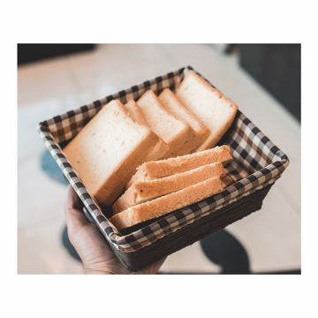 تصویر از سبد نان پارچه ای رویان متوسط چهارخانه ریز کد 1291 یک عددی