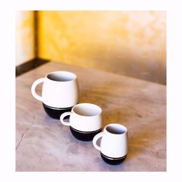 تصویر از قهوه خوری چینی خط دار مشکی آمبر وایت پلیت کد 3305.3 شش عددی