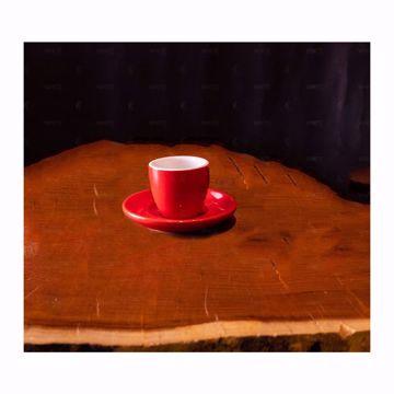 تصویر از کاپ سینگل چینی راند قرمز وایت پلیت کد 58SR شش عددی