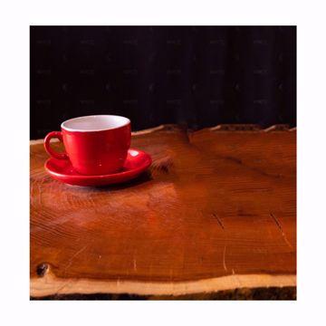 تصویر از کاپ لته چینی راند قرمز وایت پلیت کد 58XLR شش عددی