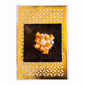 تصویر از پد پلاستیکی طلایی گلدار وایت پلیت کد 13.23 یک عددی