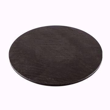 تصویر از تخته  پیتزا چوبی  گرد مشکی  کد 6603 یک عددی