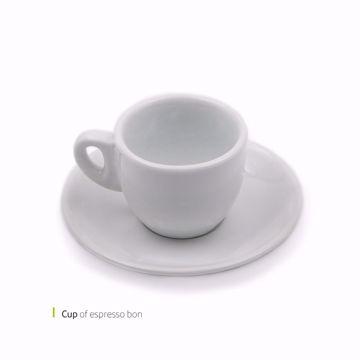 تصویر از فنجان و نعلبکي اسپرسو بن وایت پلیت کد 1902 شش عددی