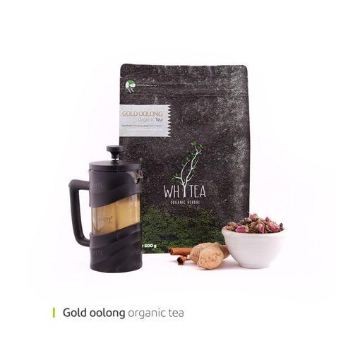 تصویر از پک چای اولانگ طلایی 500 گرمی وایت پلیت کد 55517 یک عددی